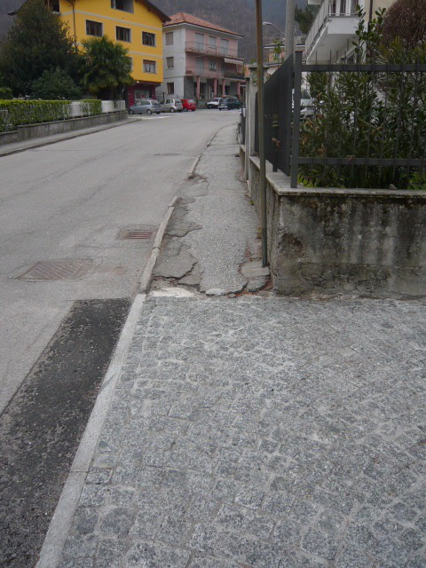 marciapiede pieve vergone